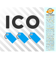 Ico tokens flat icon with bonus vector