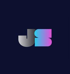 initial alphabet letter js j s logo company icon vector image