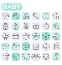 inline shopping icons collection trendy linear vector image