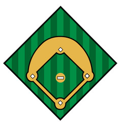 Isolated baseball icon vector