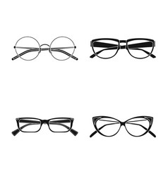 Isolated object glasses and frame icon vector