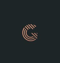 letter g line logo design creative vector image