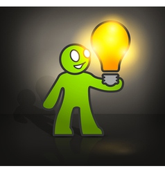light concept man vector image