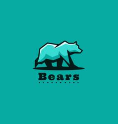logo bear simple mascot style vector image
