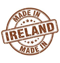 Made in ireland brown grunge round stamp vector