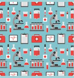 Medical blood analysis seamless flat design vector