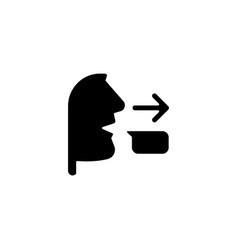 Message sender black glyph icon vector