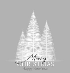 Natural background with christmas tree vector