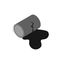 Oil is spilling from the barrel icon vector
