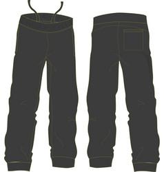 Pants design mock ups vector