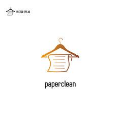 paper hanger logo hanger logo design with vector image