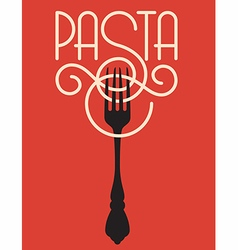 Pasta design vector image