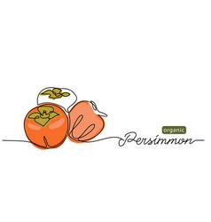persimmon fruits sketch vector image