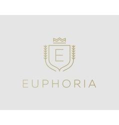 Premium monogram letter E initials ornate vector