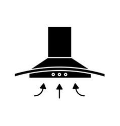 Range hood glyph icon vector