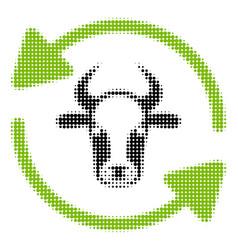 Refresh cow halftone icon vector