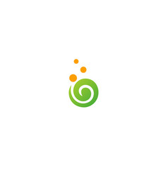 round swirl abstract ecology logo vector image