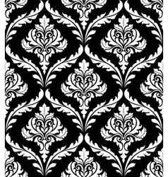 Seamless arabesque design in black and white vector