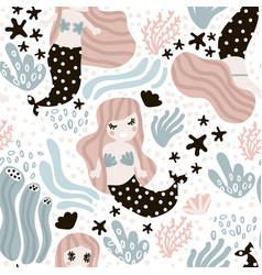 seamless childish pattern with cute vector image