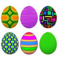 set easter egg vector image