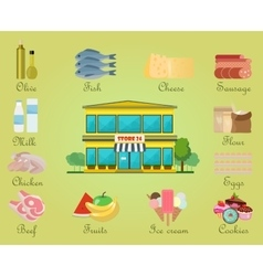 shopping product supermarket store center vector image
