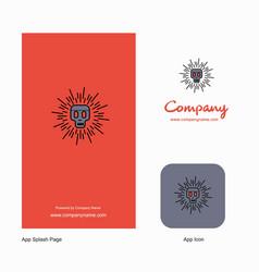 skull company logo app icon and splash page vector image