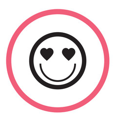 smile icon in the circle vector image