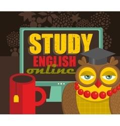 Study english concept vector
