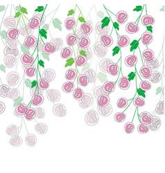 stylized roses foliage vector image
