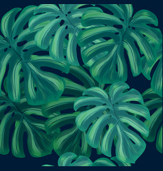 summer tropical background with exotic leaves vector image