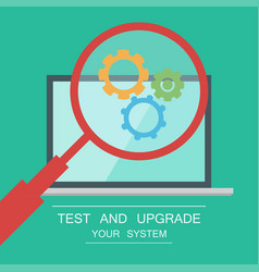 Testing system icon vector