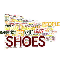 The cost of shoes text background word cloud vector