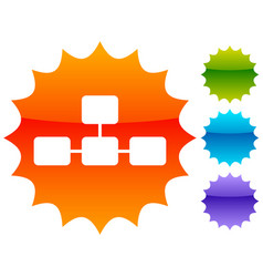 topological hierarchical diagram icon multilevel vector image