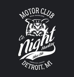 Vintage bikers club t-shirt logo vector