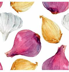 Watercolor onion pattern vector