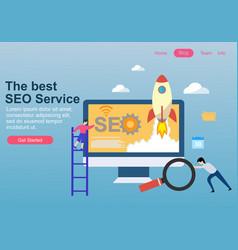 web page design for seo teamwork vector image