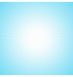 White sun with long thin rays vector image