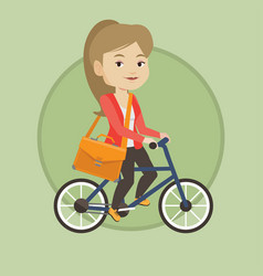 woman riding bicycle vector image vector image