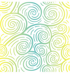 curls seamless pattern colorful vector image