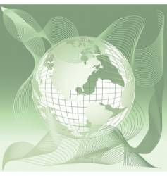 globe world map abstract background vector image vector image