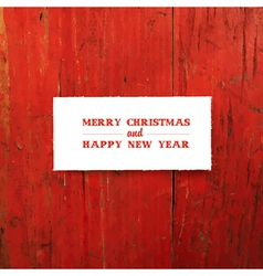 new year greeting card design template on red vector image