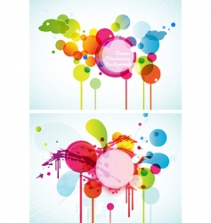 set of abstract colored circles vector image