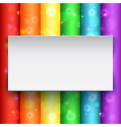 White banner on abstract background vector image
