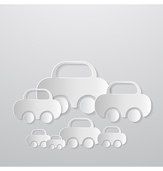 Abstract Cars Made From Paper vector image