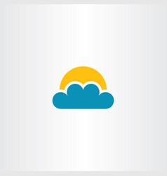 cloud and sun icon clip art vector image