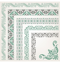 Decorative seamless islamic ornamental border vector image vector image