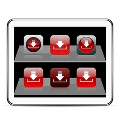 Download red app icons vector image vector image