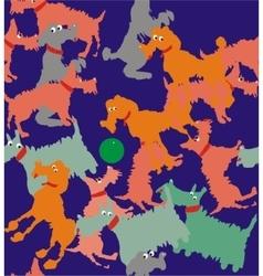 Free-for-all dogs vector