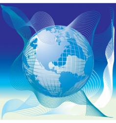 globe world map abstract background vector image