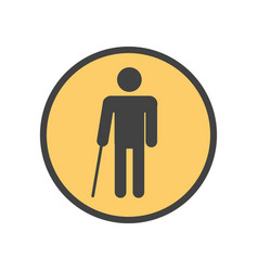 blind person with a stick vector image vector image